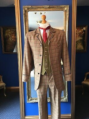 Handsome Men's Edwardian Theatrical Style Three Piece Suit, Top Item!!