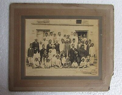 Vintage Old Rare Indian Royal men with Childs Group Black & white Photograph