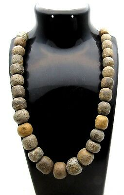 Ancient Neolithic B@ne Bead Necklace - Rare - D705
