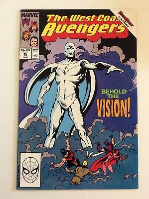 West Coast Avengers #45 (1989) Hg! 1St White Vision Infinity War Spec! Free S/h
