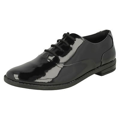 Girls Clarks Lace Up Brogue School Shoes - Drew Star