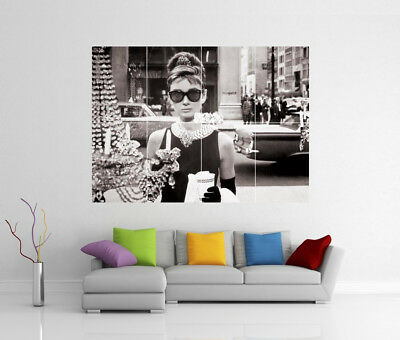 Breakfast At Tiffanys Audrey Hepburn Poster Giant Wall Art Print Photo Poster