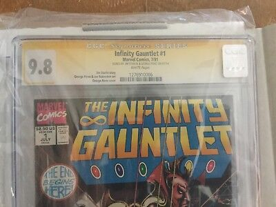 Infinity Gauntlet #1 - #6 CGC SS 9.8 White Pages Complete Set Infinity War