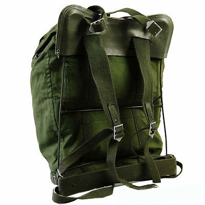 Original Swedish Military 35L Backpack with Frame air force army canvas rucksack