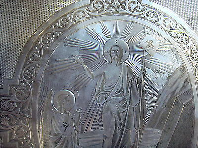 Antique Imperial Russian Sterling Silver Icon - Bible Cover. Amazing And Unique.