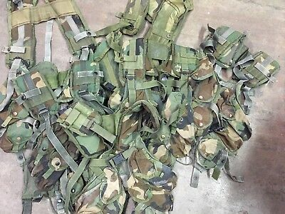 Lot Of 7 Military Issued Surplus Tactical Load Bearing Enhanced Camo Vests