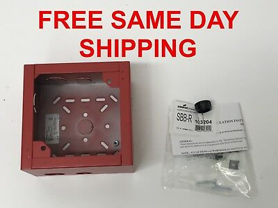 Cooper Wheelock Surface Back Box - Red (Sbb-R), Item-742461-D2