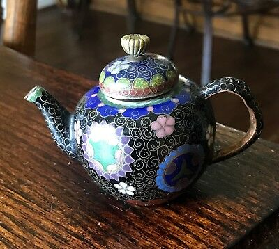 Antique Japanese Cloisonne Miniature Teapot