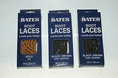 Bates Strong Braid Round Boot & Shoe Laces - Available in 45, 60 and 72 Inch
