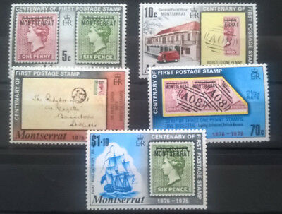 Montserrat 1976 Satz 100 Briefmarken Stamp on Stamp MNH