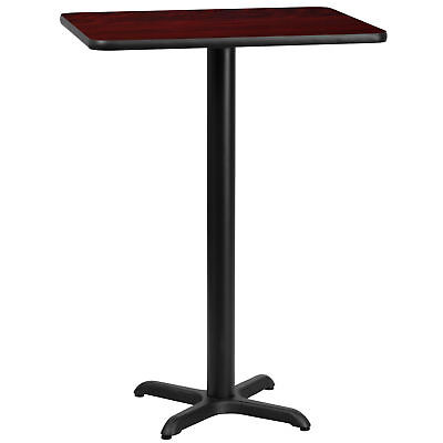 Flash Furniture 24'' x 30'' Rectangular Mahogany Laminate Bar Table