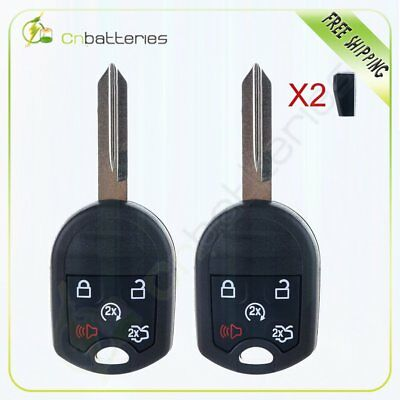 2*Replacement Car Key Fob Keyless Remote Control For 2012 2013 2014 Ford Mustang