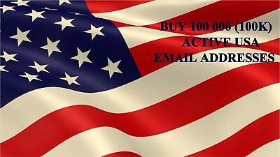 USA 100,000 (100K) Email List For Email Marketing