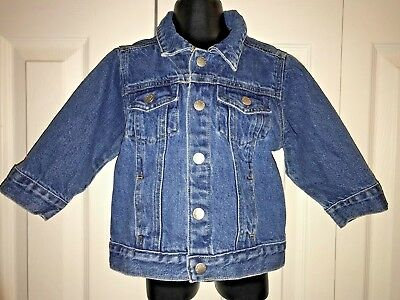 GREEN DOG Everyday Solid Blue Cotton Denim Jean Snap Down Jacket Sz 24 M