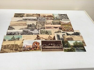 Job Lot Of 31 Foreign Postcards B/w & Colour From 1905 Onwards