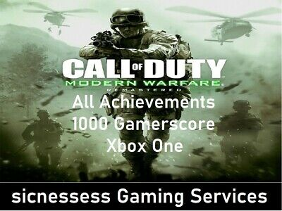 "Call of Duty: Modern Warfare Remastered ""ACHIEVEMENTS ONLY"" Xbox One 1000 G"