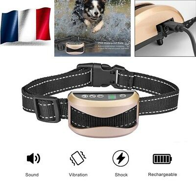 Ultrasons Anti-aboiement Collier Pet Chien Collar de Dressage avec Son Vibration
