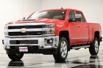 Chevrolet Silverado 2500 HD LTZ 4X4 Diesel DVD GPS Leather Red Hot Crew 4WD Like New 2500HD Duramax Navigation Heated Cooled Seats Player 16 18 2018 17 Cab