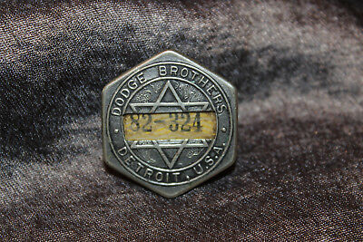 1920's Dodge Brothers Employee Badge Pin – Automotive Vintage Antique