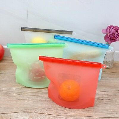 Food Storage Bag Silicone Sealing Pack Refrigerator Preservation Pouch Reusable