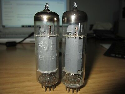 El84 Telefunken Tube <> Diamond Bottom 2 Pcs For Klangfilm 6Bq5 Pair