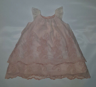 9380c4bb6747 Catherine Malandrino Mini Size 3-6 Months Pink Embroidered Lace Cap Sleeve  Dress
