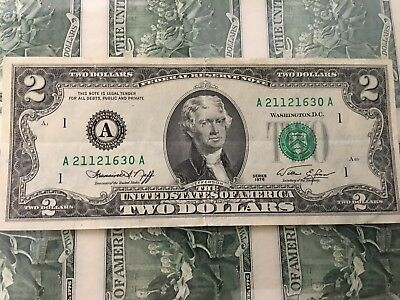 1976  Vintage ✯Rare✯ $2 Bill Two Dollar Bill Nice Condition Great Gift