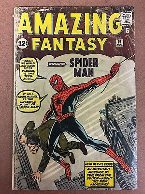 Amazing Fantasy 15 1st appearance Spider-man Good condition