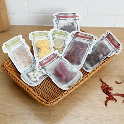 Food Storage Bags PE Sealing Packs Snacks Container Saver Pouch Reusable 3/4PC