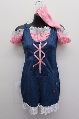 Dance Costume XL Child Denim & Pink Country Clogging DUET Competition Pageant