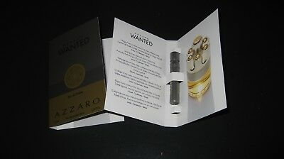 "AZZARO "" WANTED "" MEN Eau de Toilette 3x1,2ml Proben Spray 3,6ml !!NEU & OVP!!"