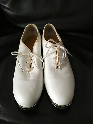Tap Shoes Women's Stevens Stomper Taps White Size 7 1/2 M Clogging Clog
