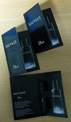 "DIOR ""SAUVAGE"" HOMME Eau de Toilette 3x1ml Spray 3ml Luxus-Proben !!NEU & OVP!!"