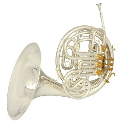 Schiller Elite VI Double French Horn Removable Bell K Style Silver & Gold