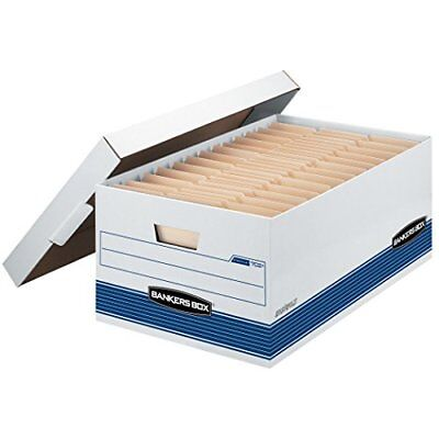 Bankers Box Stor/File Medium-Duty Storage Boxes with Lift-Off Lid, Legal, 12 Pac