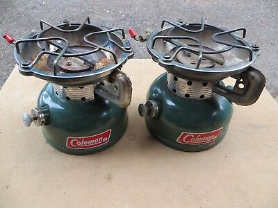 2 VINTAGE COLEMAN 502 Single Burner Stoves For Parts Repair Minor Issues I Think