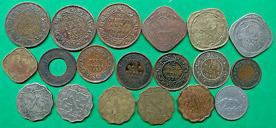 Lot of 19 Different British India Coins 1935-1947 Colonial Empire !!
