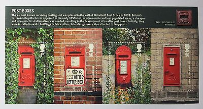 """GB Stamps 2009 """"Post Boxes"""" Miniature Sheet - MNH"""