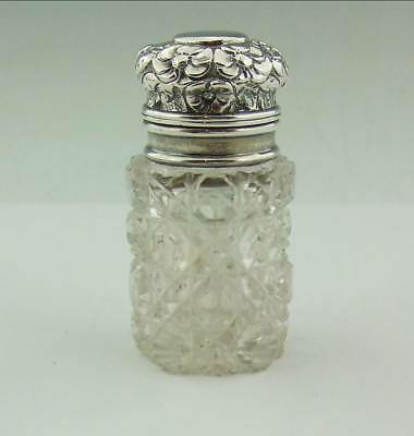 Sampson Mordan Victorian Sterling Silver Topped  Bottle