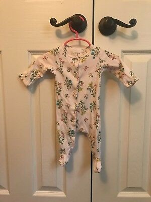 Carters Girl floral sleeper 3 months