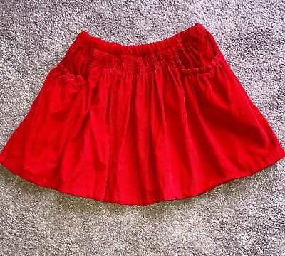 Preloved Red Seed Girls Skirt size 5-6