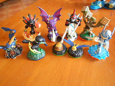 Skylanders 10 Figures Characters All In V Gd Cond - Fast Post