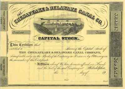 19__ Chesapeake & Delaware Canal Stock Certificate