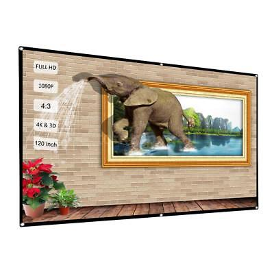 120'' 4:3 Portable Foldable Projector Screen Rear Front Projection Home Theater