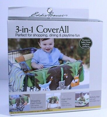 Eddie Bauer Infant Baby Shopping Cart High Chair Cover Activity Mat Toys New