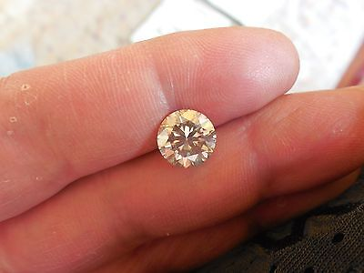 Fiery 2.73 ct Yellow Tint White I-K Color Round Loose Moissanite VVS1 8.95 mm