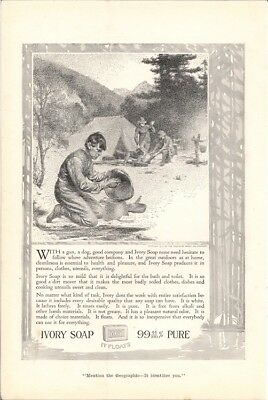 Ivory Soap Cleanliness Where Adventure Beckons 1916 Vintage Ad