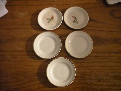 Lot of 5 Vintage Butter Pats, Salt, Porcelain, Dining, Table Settings