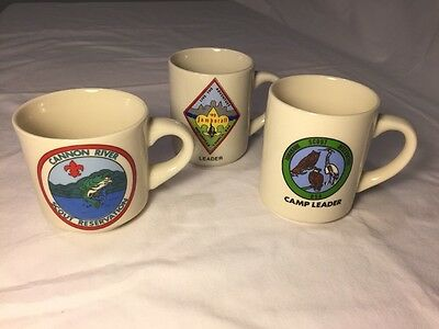 Boy Scouts Coffee Mug Lot Cannon River Scout Reservation Jamborall Camp Leader