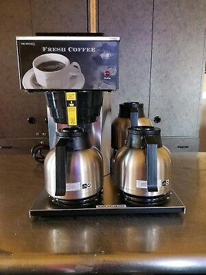 Newco Commercial Coffee Maker Model AKH-3TC w/ Airpots Carafes Works Great CLEAN